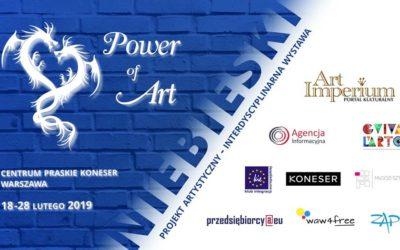 """Wystawa zbiorowa """"Niebieski"""" z cyklu Power of Art, 18 – 28.02.2019"""