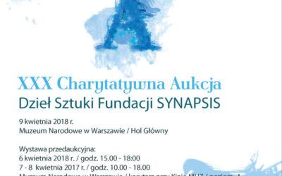Jubileuszowa XXX Aukcja Charytatywna Dzieł Sztuki Fundacji SYNAPSIS w Muzeum Narodowym w Warszawie – 09.04.2018