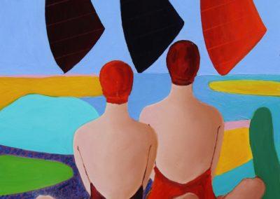 Trzy kolorowe żagle