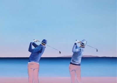 Dwóch golfistów
